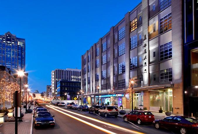 Hudson - Raleigh, North Carolina    64  Residences in a mixed-use building with restaurants, retail, and a television studio
