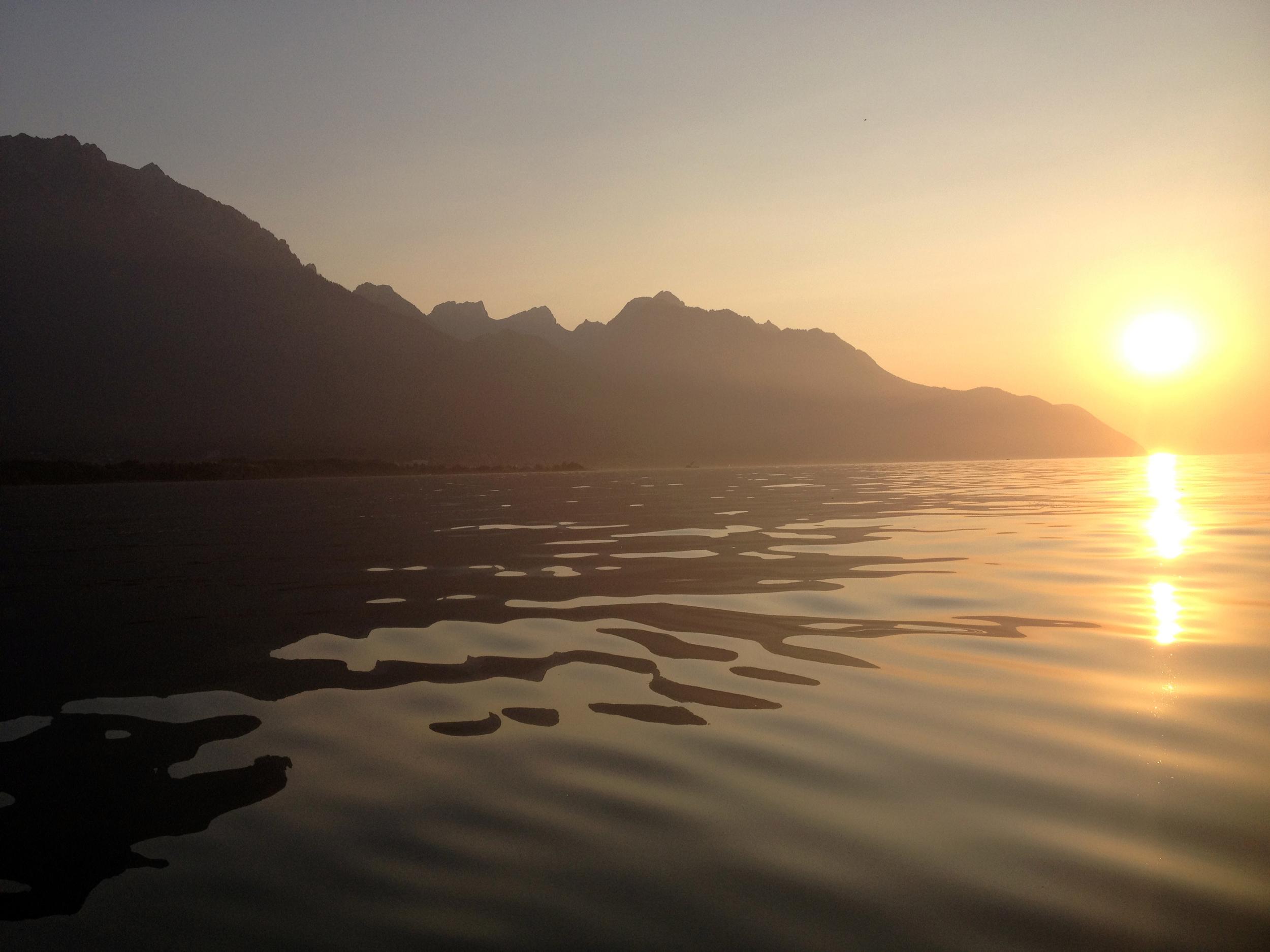 Lac Léman canoeing