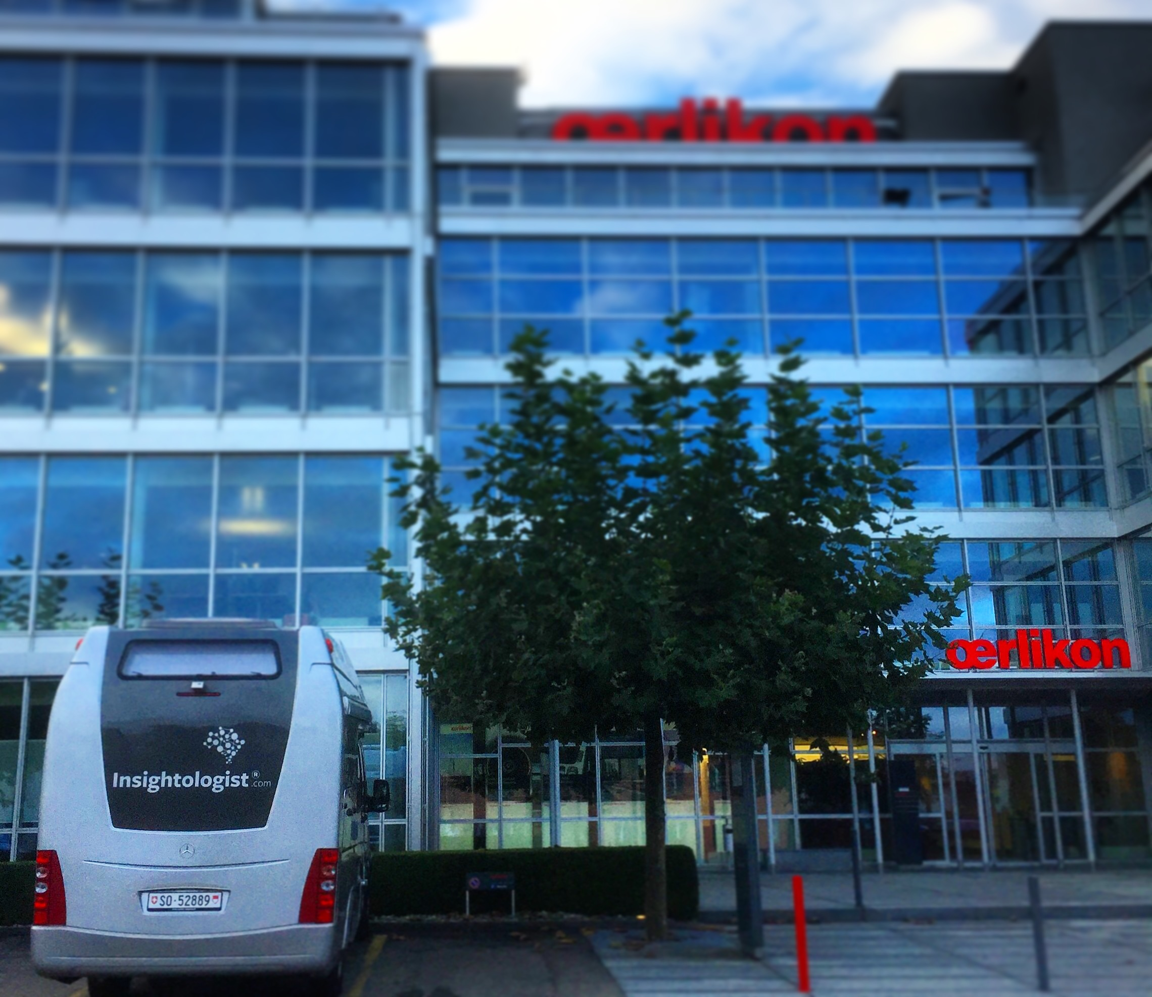 Insightologist® brand in front of customer headquarters