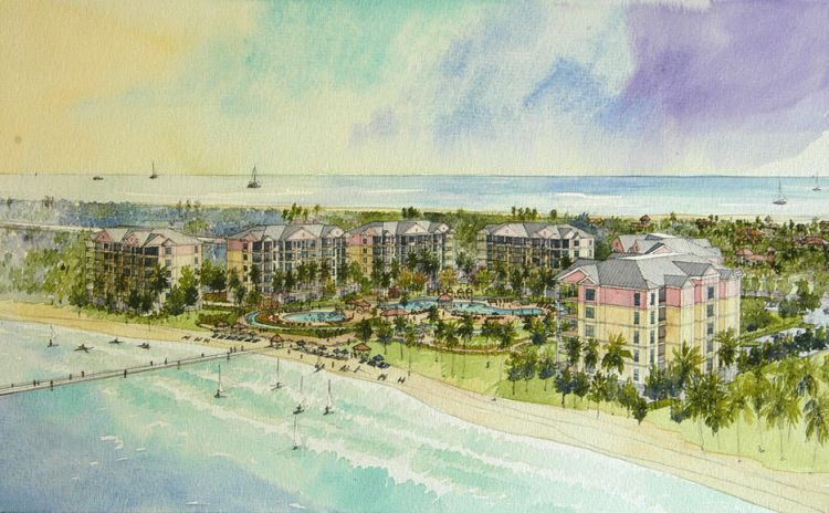 Waterside Resorts   Destin Florida  Santa Rosa Island, Fl  M.Arch Architects designed 146 beach front luxury high rise residences on Destin Florida's Santa Rosa Island. This resort complex is comprised of 6 mid-rise concrete slab buildings, parking, and clubhouse surrounding two 10,000sf cascading swimming pools. Intensive structural, mechanical, and landscape design coordinated by M.Arch Architects and consultants Linea LLP.