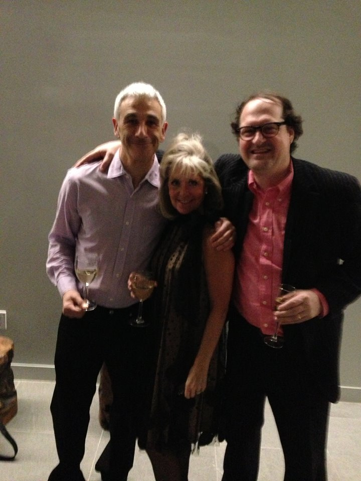 Artist Norbert Waysberg, Susan Nelly, and March Chadwick