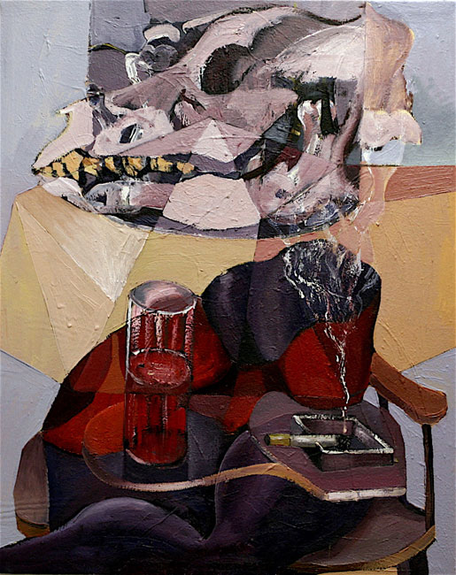 Purple, 2008, 30x24ins, mixed media on canvas.