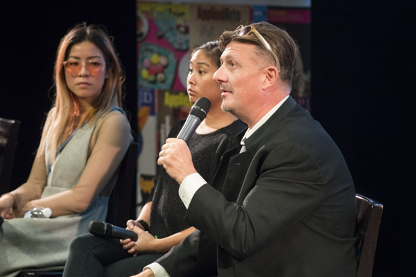 Panelist at Creative Futures Expo (Photo by Trina Turl)