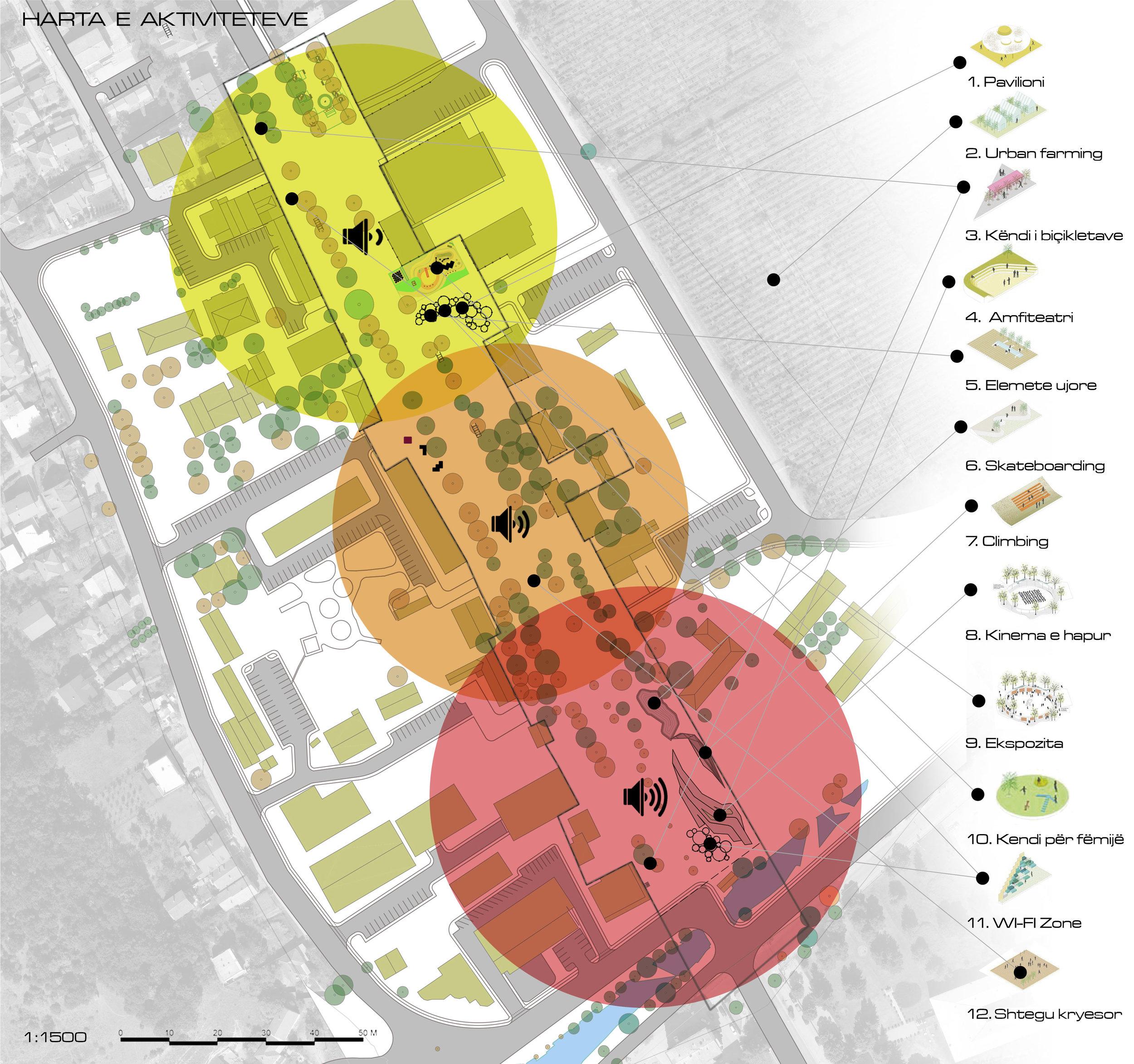 Harta e aktiviteteve në Bulevard
