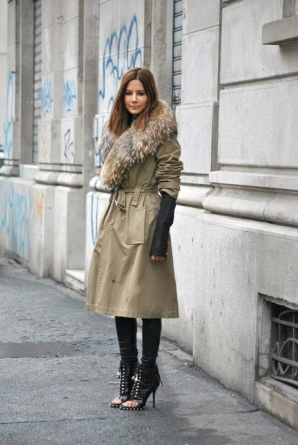 With a Trench.