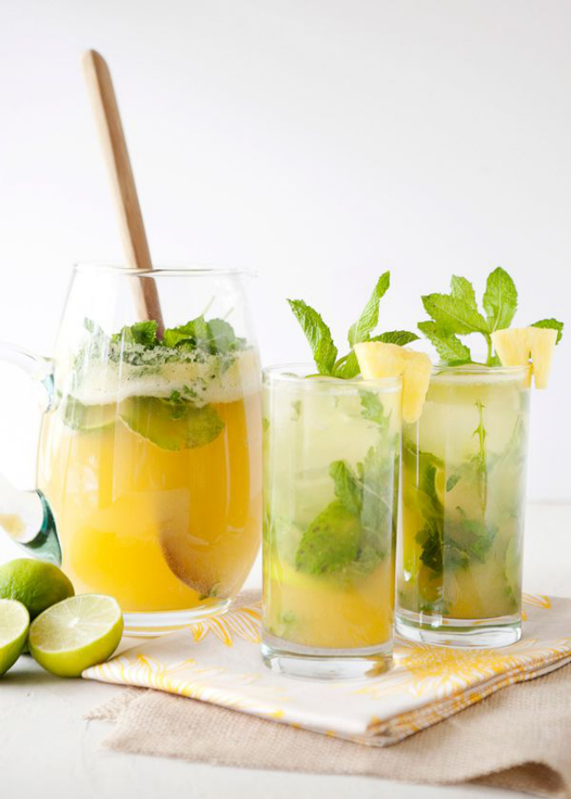 Pinapple and Mint water