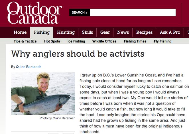 Featured in Outdoor Canada Magazine