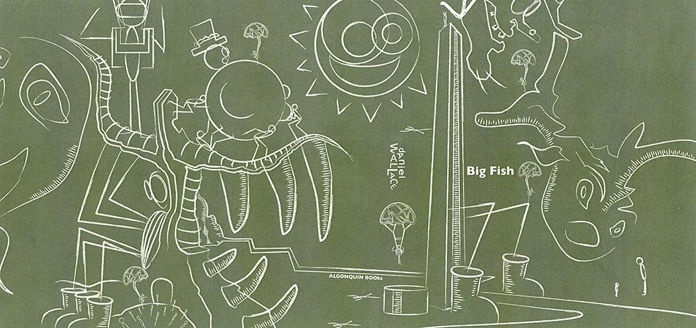 Big Fish Book Jacket Design - Design and illustration by Daniel James Buckley