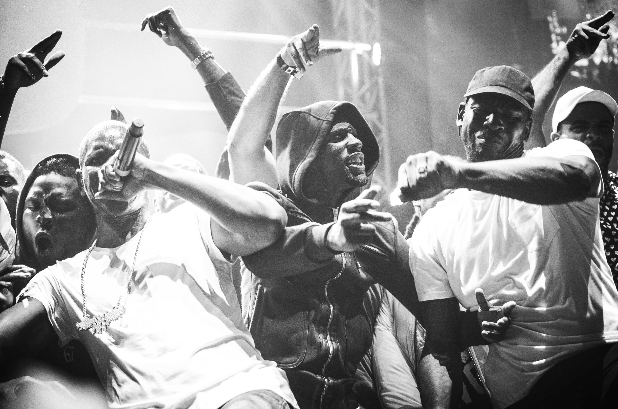 Giggs with Skepta performing  Whippin Excursion at the GRM Daily Rated Awards // 071116. An impromptu moment, everyone rushed on stage and I was fortunate enough to capture it. Skepta's skanks were hilarious!