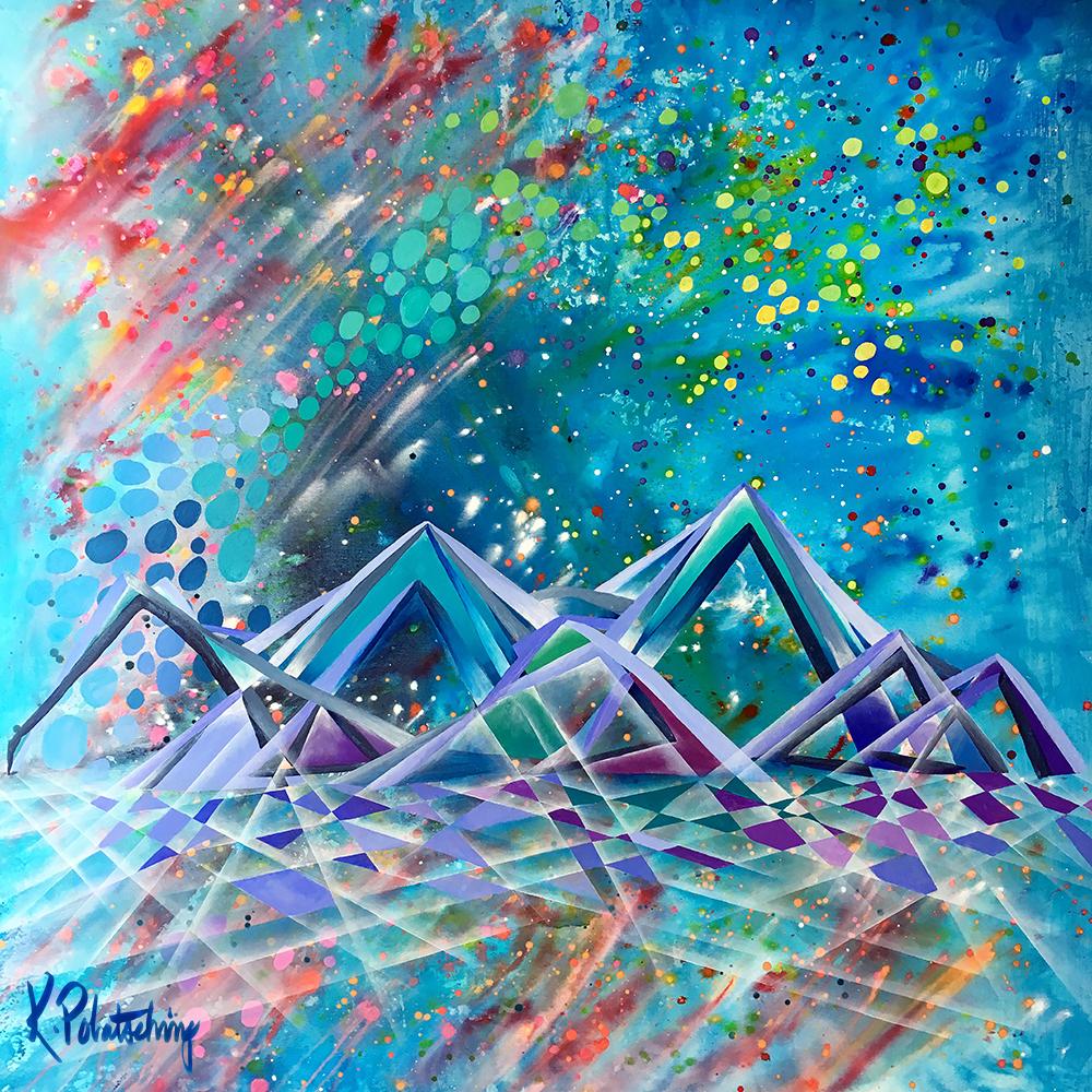 """Heavenly, 48""""x48"""" acrylic on canvas"""