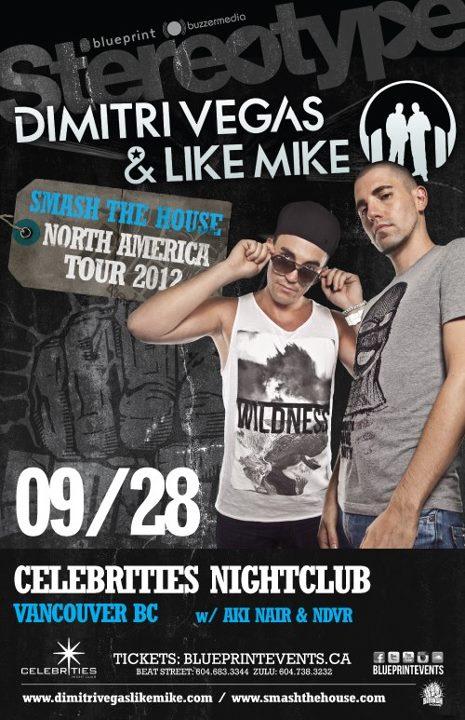 Dimitri Vegas + Like Mike at Celebrities Nightclub Vancouver