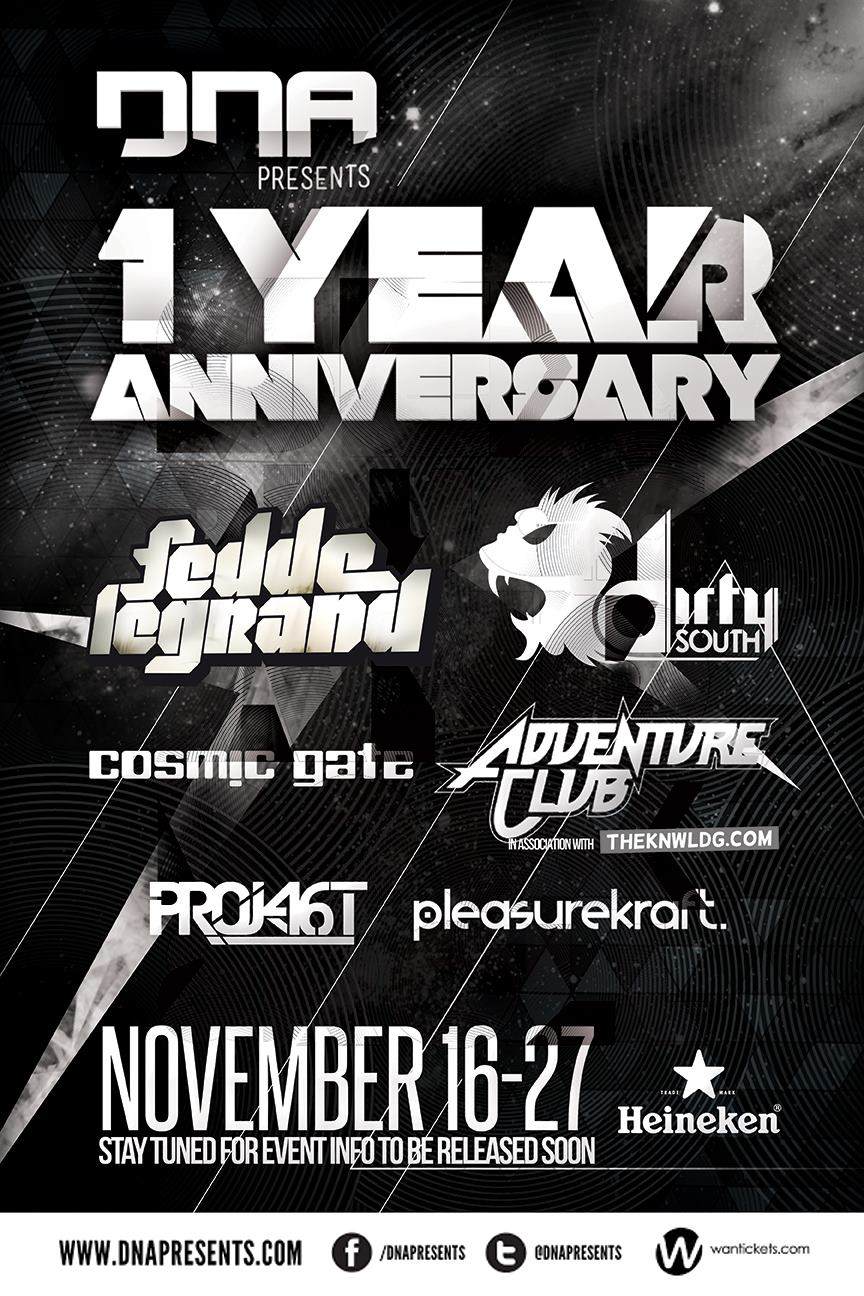 Fedde Le Grand Cosmic Gate Project 46 Pleasurekraft Adventure Club Dirty South Ottawa Barrymore's