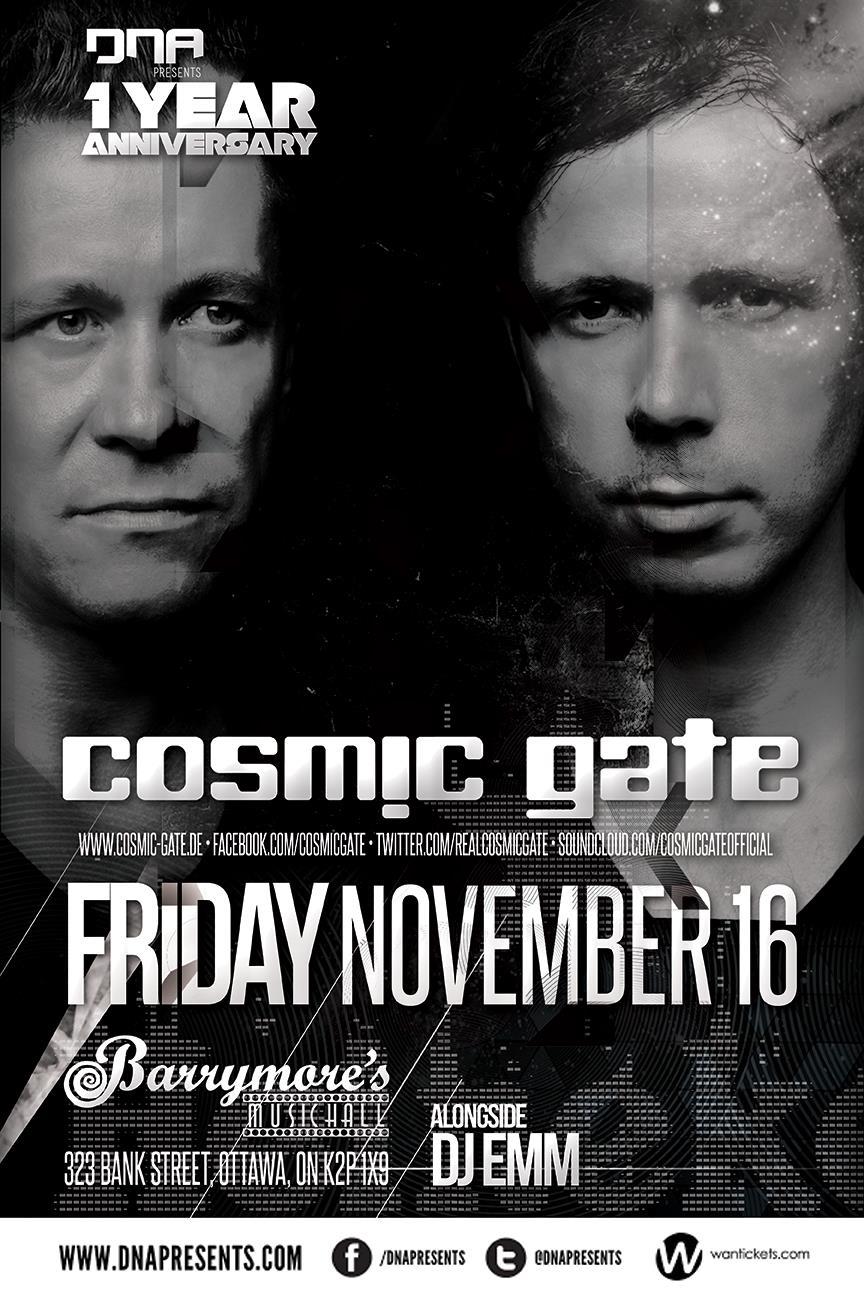 Cosmic Gate Barrymore's Ottawa