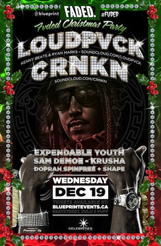 LOUDPVCK CRNK Celebrities Vancouver