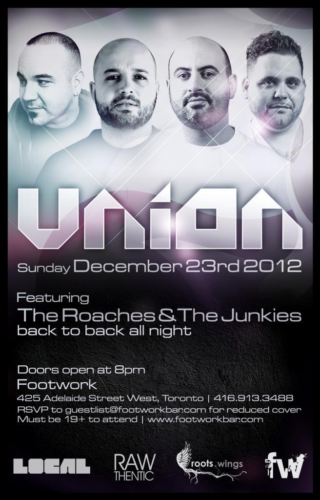 The Roaches & The Junkies B2B all night long.footwork toronto