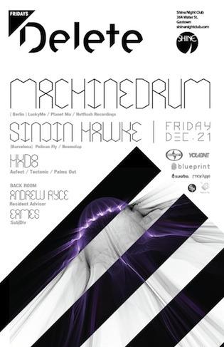 Machinedrum, Sinjin Hawke, HXD8, Andrew Ryce shine nightclub vancouver