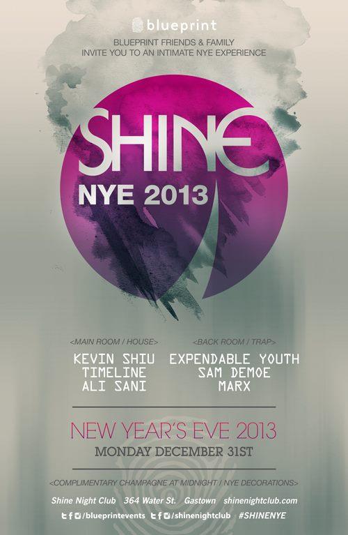 MAINROOM: Kevin Shiu, Timeline, Ali Sani - BACK ROOM: Expendable Youth, Sam Demoe, Marx shine nightclub vancouver