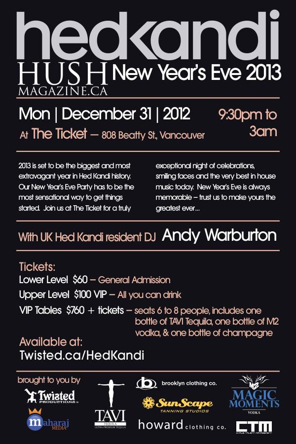 Andy Warburton, Jamie Van Goulden, DJ Etherea the ticket bar vancouver