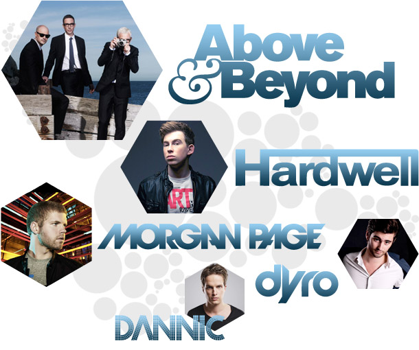 Above & Beyond, Hardwell, Dannic, Dyro, Morgan Page vancouver