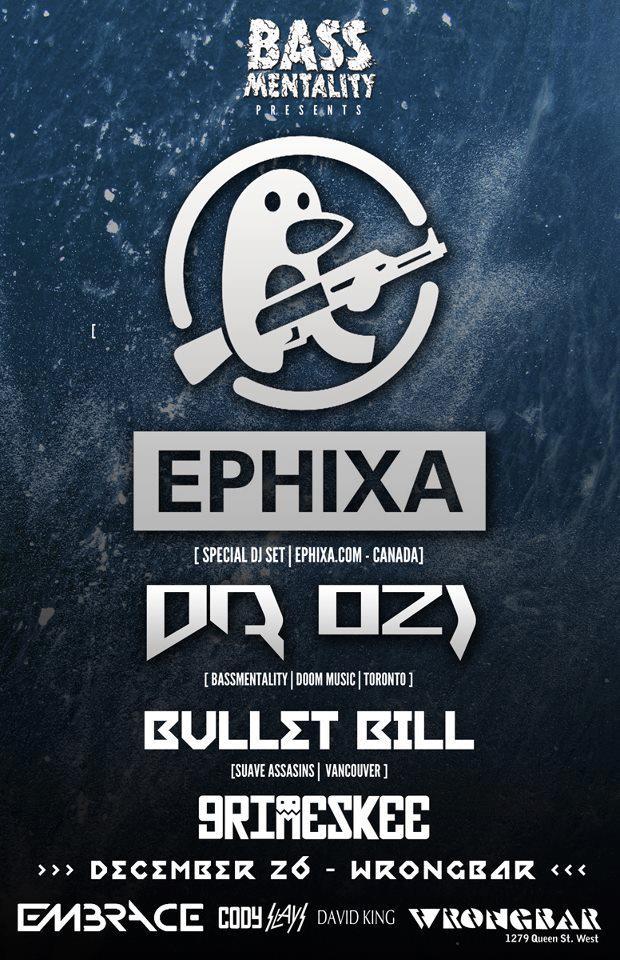 Ephixa, Dr. Ozi, Bullet Bill, Grimeskee wrongbar