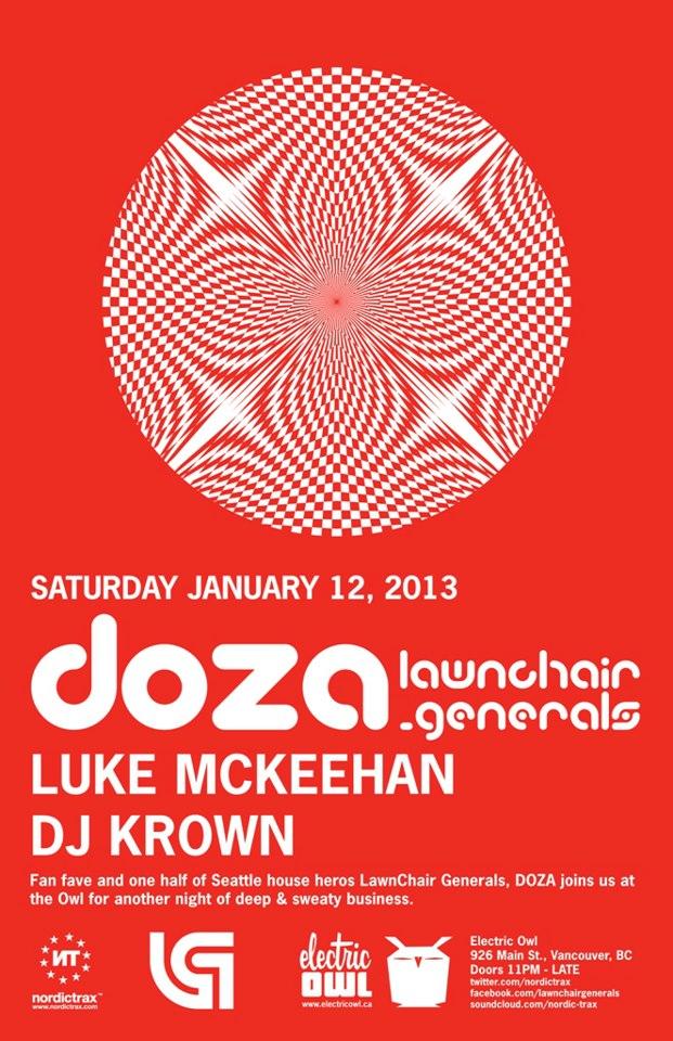 D  OZA, Luke McKeehan, DJ Krown vancouver electric owl