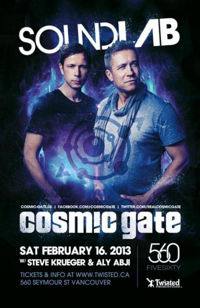 Cosmic Gate, Steve Krueger, Aly Abji Vancouver FIVE SIXTY