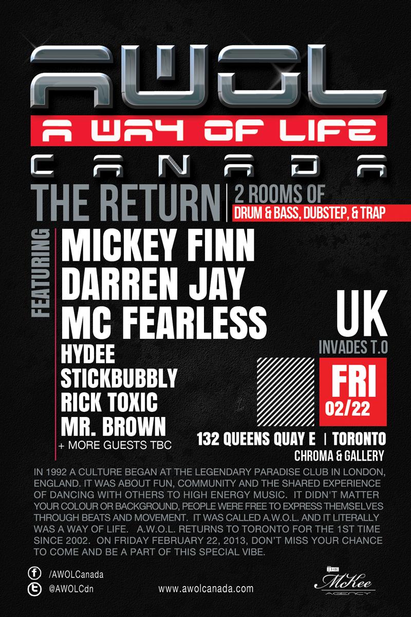 Mickey Finn, Darren Jay, MC Fearless, Hydee, Stickbubbly, Rick Toxic, Mr. Brown Chroma Toronto