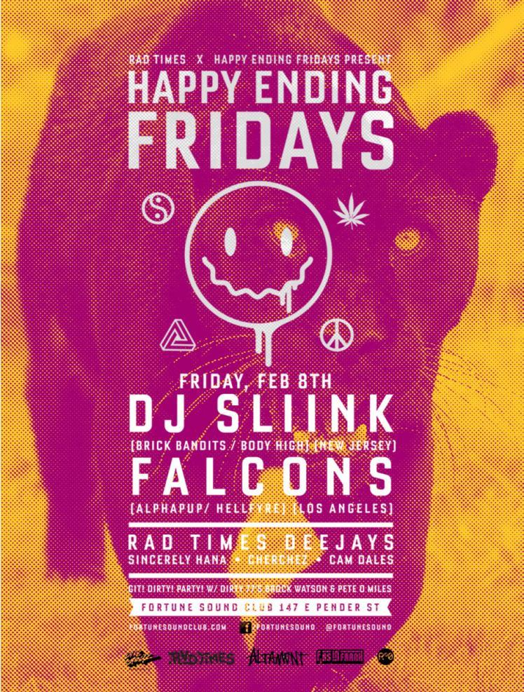 DJ Slink, Falcons, Cam Dales, Sincerely Hana, Cherchez Fortune Sound Club Vancouver