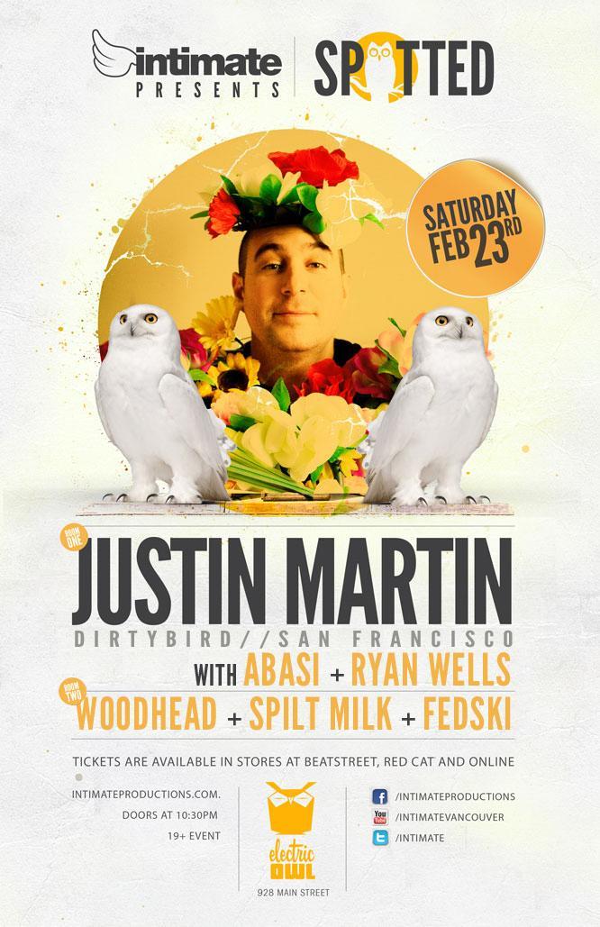J  ustin Martin (dirtybird), Abasi, Ryan Wells Electric Owl Vancouver