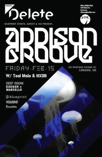 A  ddison Groove, Taal Mala, HXDB + Siavash and Marcello in the backroom Shine Vancouver