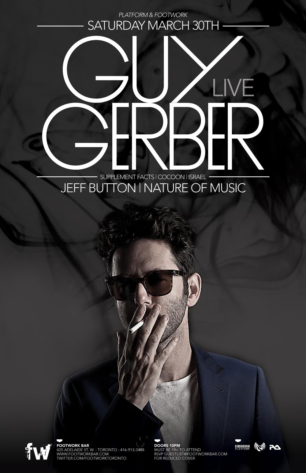 G  uy Gerber, Jeff Button, Nature of Music Footwork Toronto