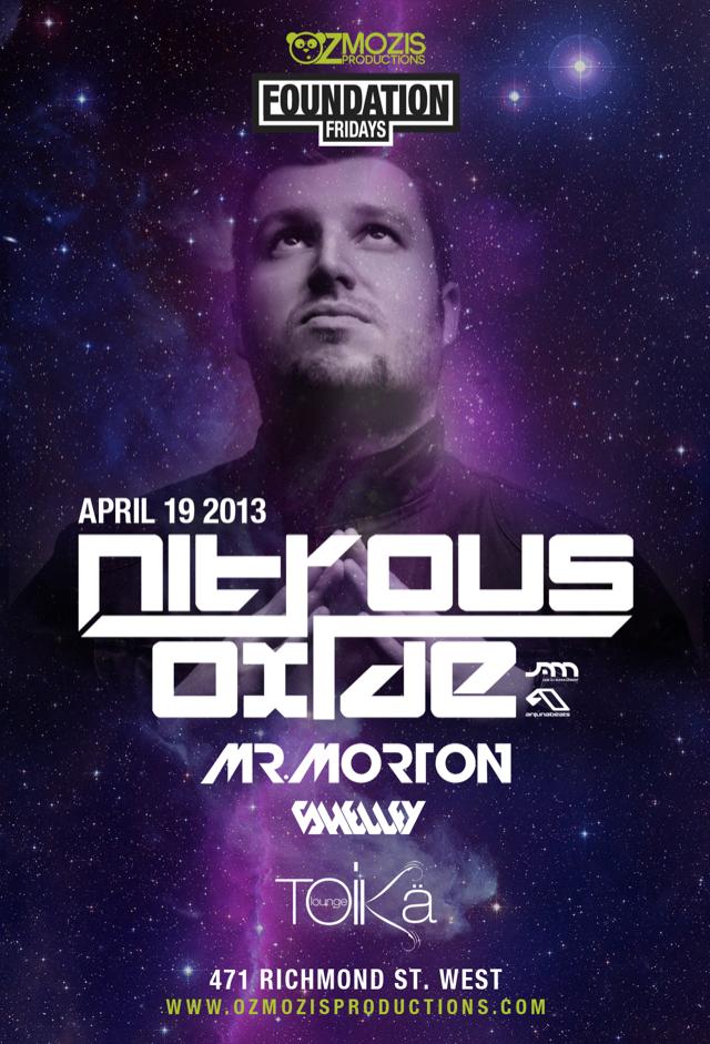 Nitrous Oxide, Mr. Morton, Shelley Toika Lounge Toronto