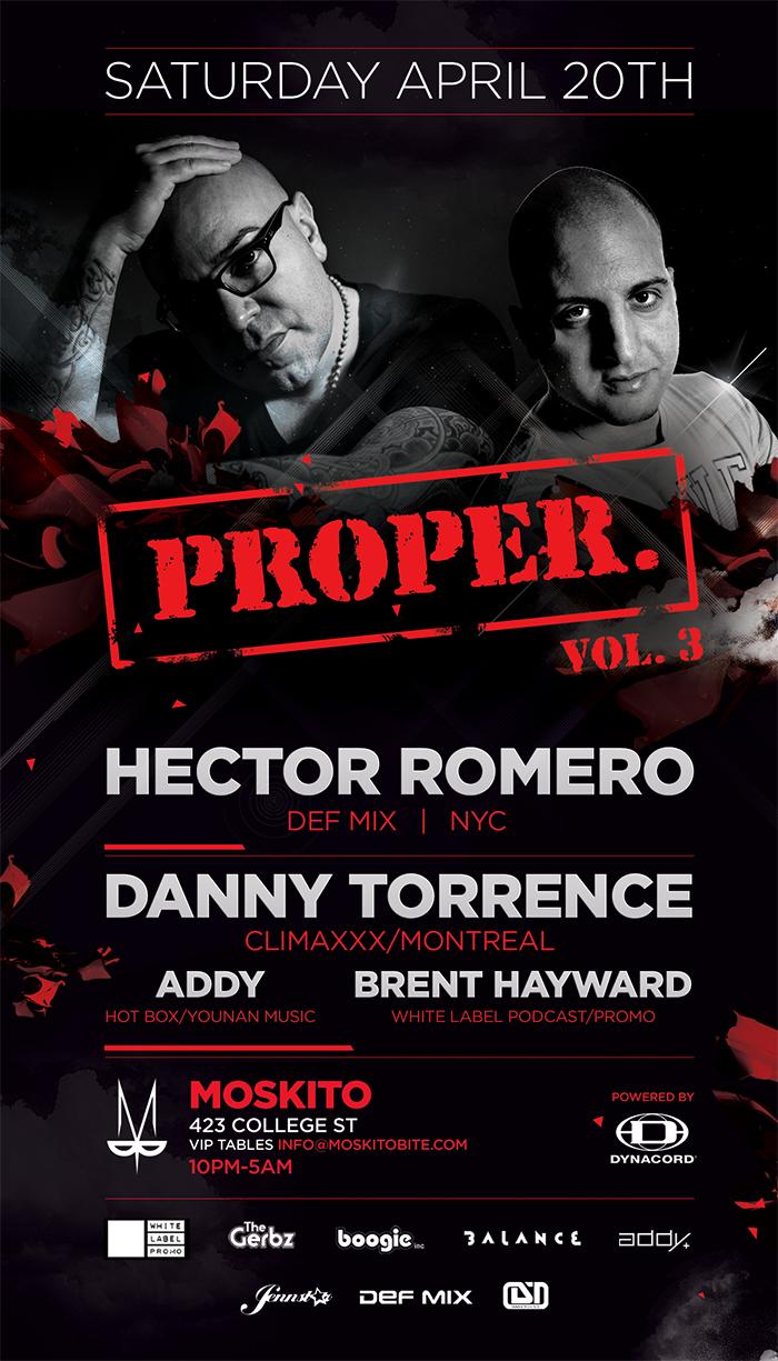H  ector Romero, Danny Torrence Moskito Toronto