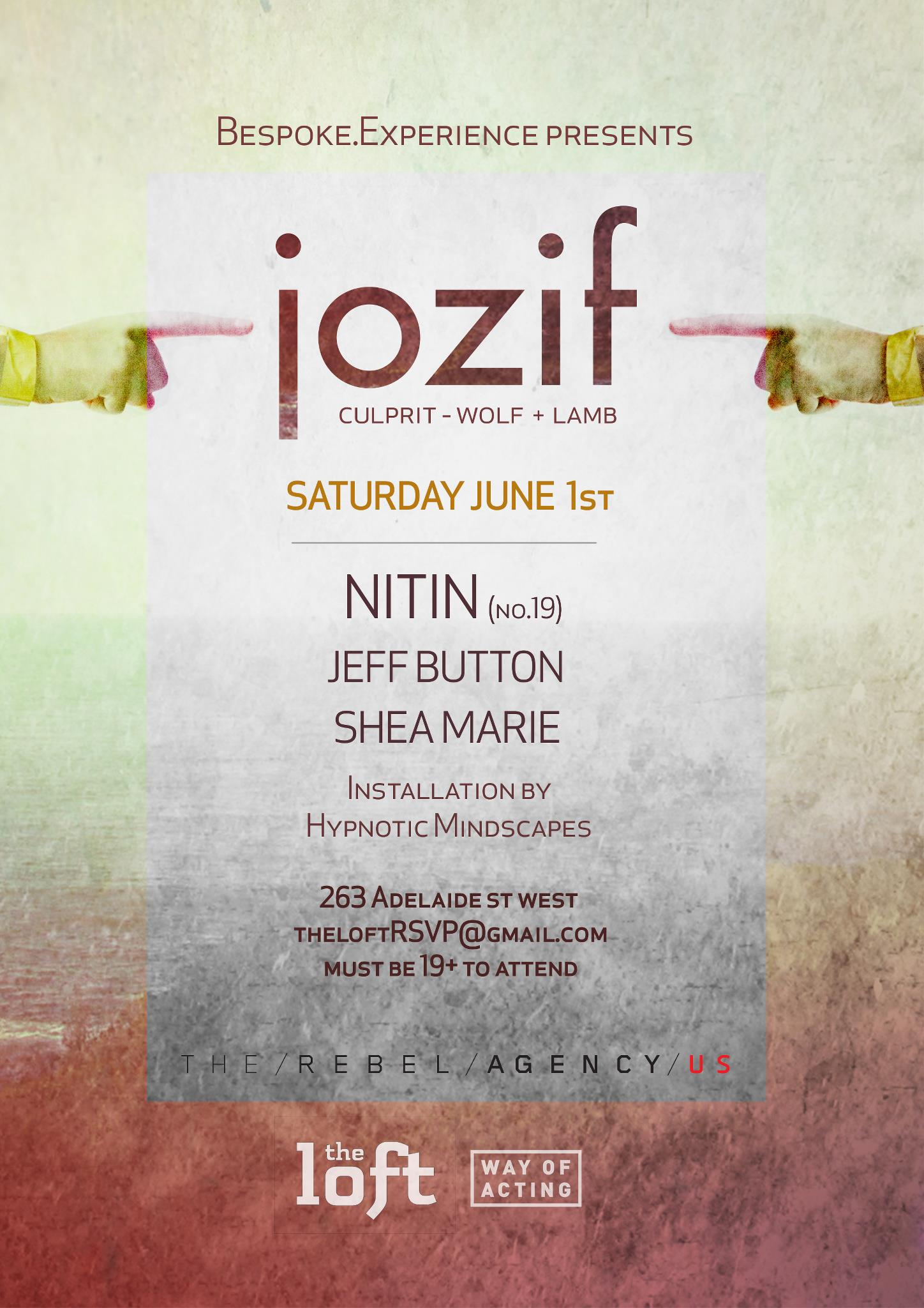 J  ozif w/ Nitin, Jeff Button, Shea Marie The Loft Toronto