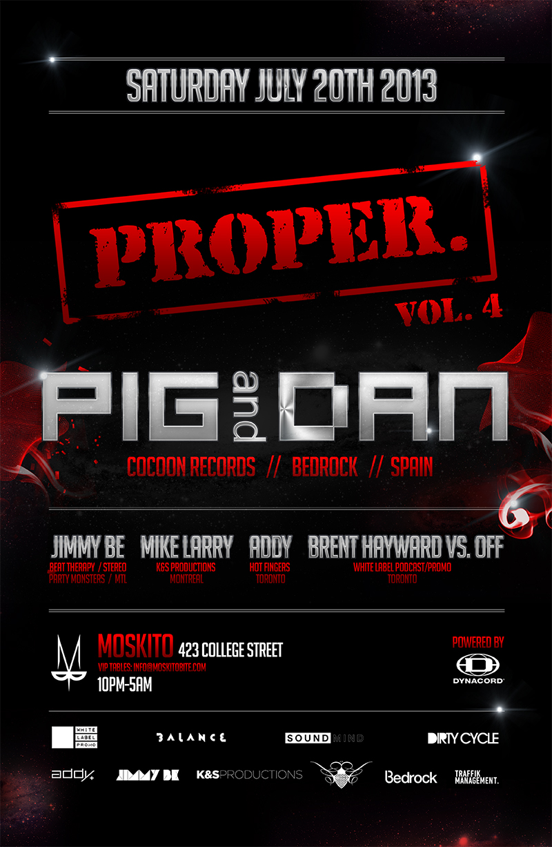 P  ig & Dan, Jimmy Be, Mike Larry, Addy, Brent Hayward vs. Off Moskito Toronto