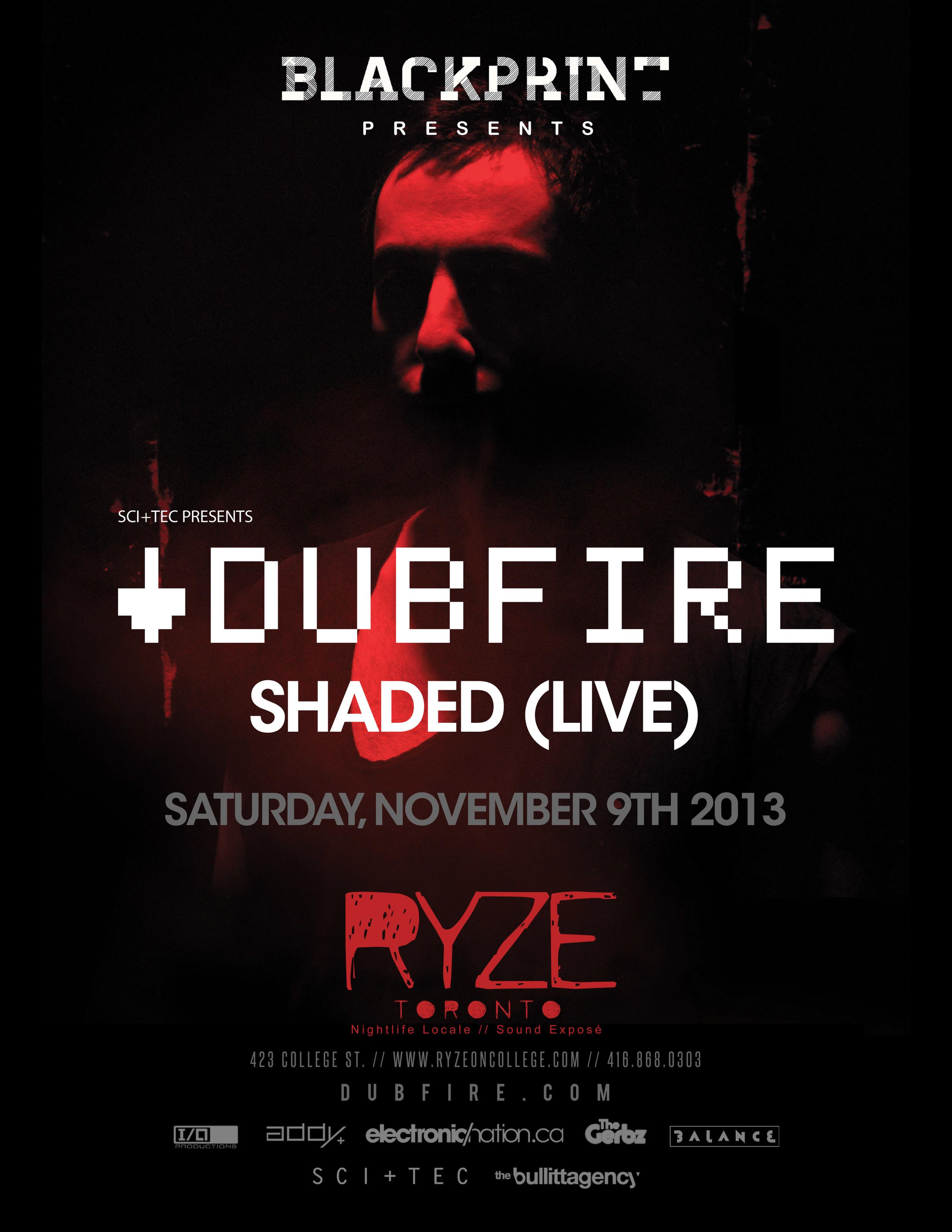 Dubfire w/ Shaded (live) at Ryze Toronto
