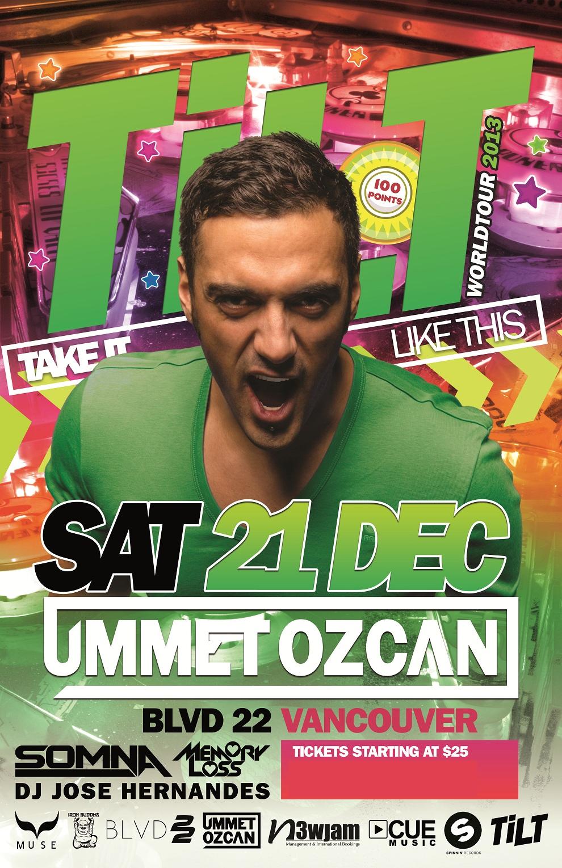 Ummet Ozcan, Somna, DJ Jose Hernandes + More in Vancouver at BLVD22