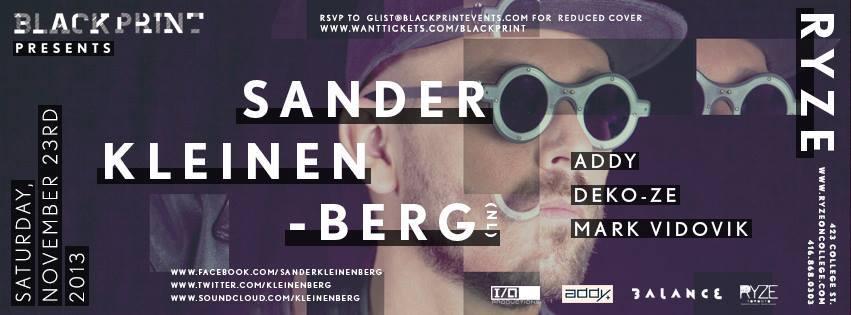 Sander Kleinenberg, Addy with Deko-Ze in Toronto at Ryze