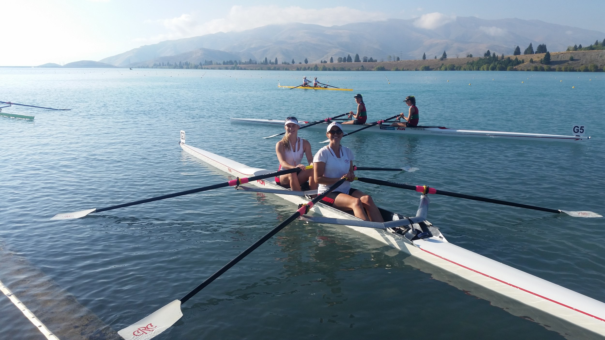 Womens Novice Double - Bronze at the 2017 New Zealand Rowing Champs
