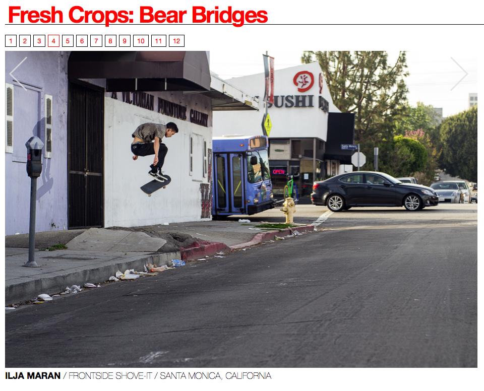 Ilja Maran frontside Shove-it in Santa Monica