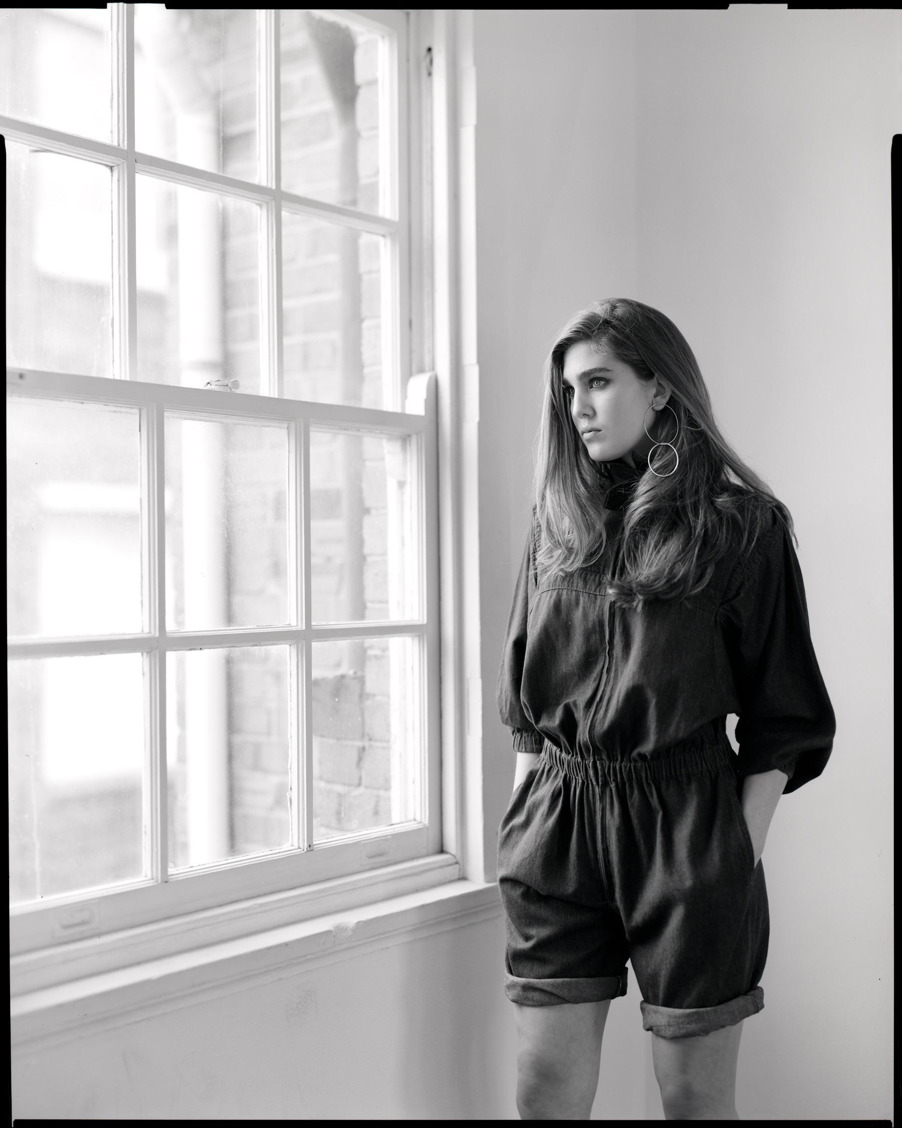 Tor Glover 8x10 black and white film portrait sydney