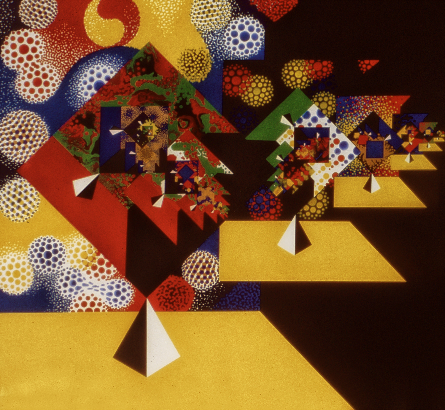 Celebration, 1978, Acrylic on Canvas, 66 X 66 in.