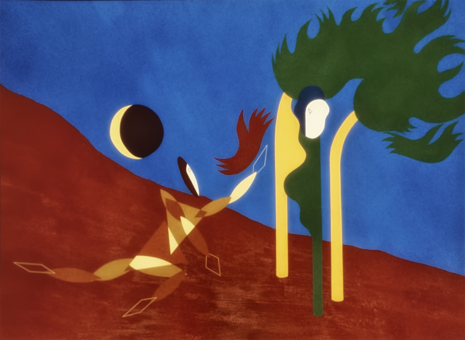 The Gift, 1978, Acrylic on Masonite, 36 X 48 in.