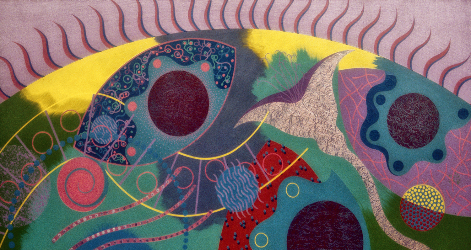 New Wave Biology, 1982, Acrylic on Masonite, 48 X 24 in.