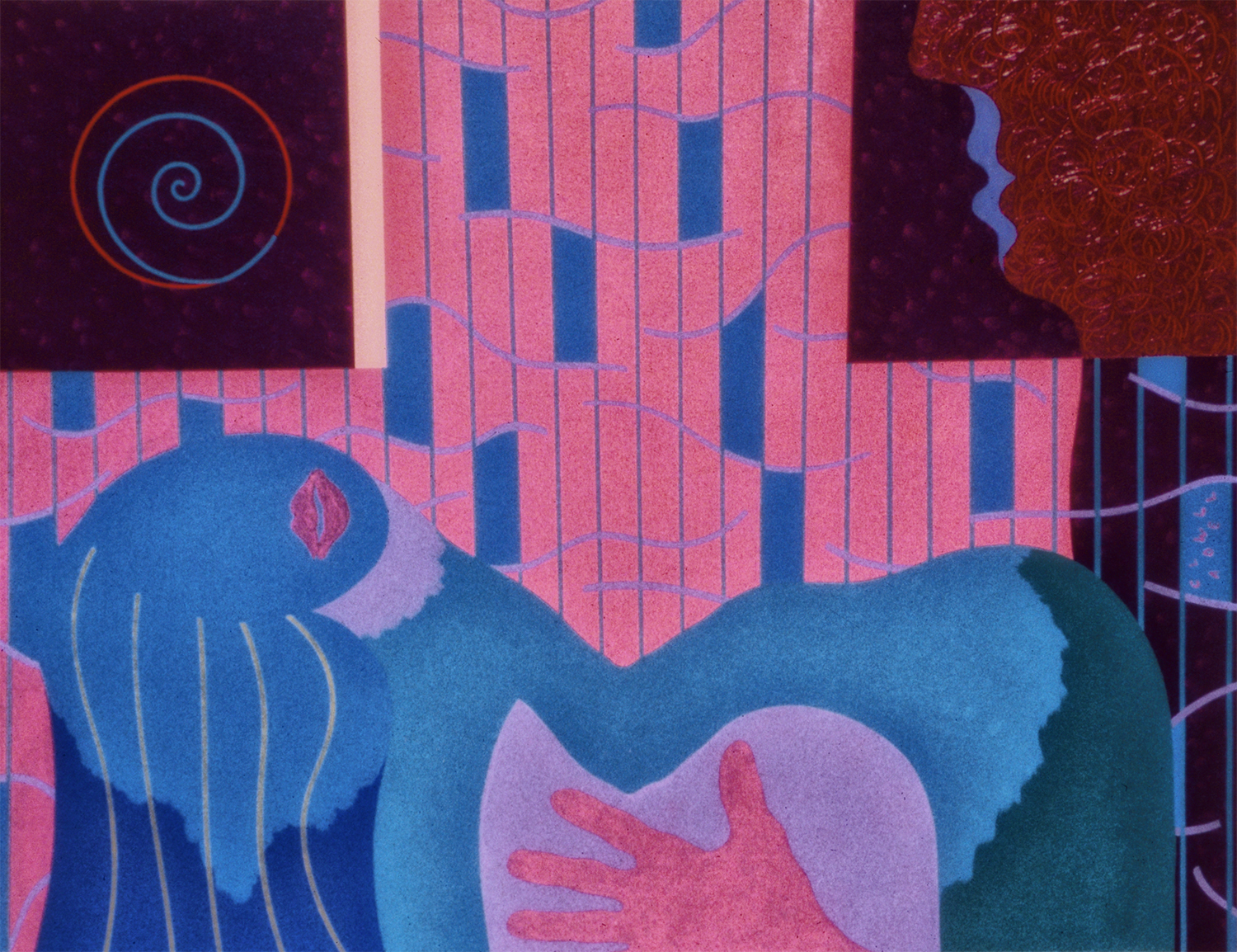 Sexual Dissonance, 1982, Acrylic on Canvas, 24 X 30 in.