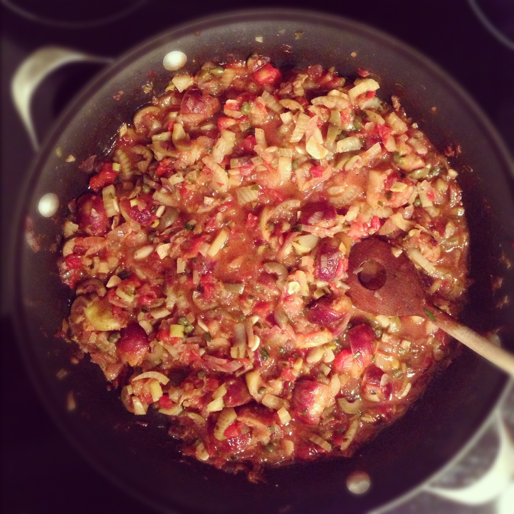 Fig and Fennel Caponata (in the making)
