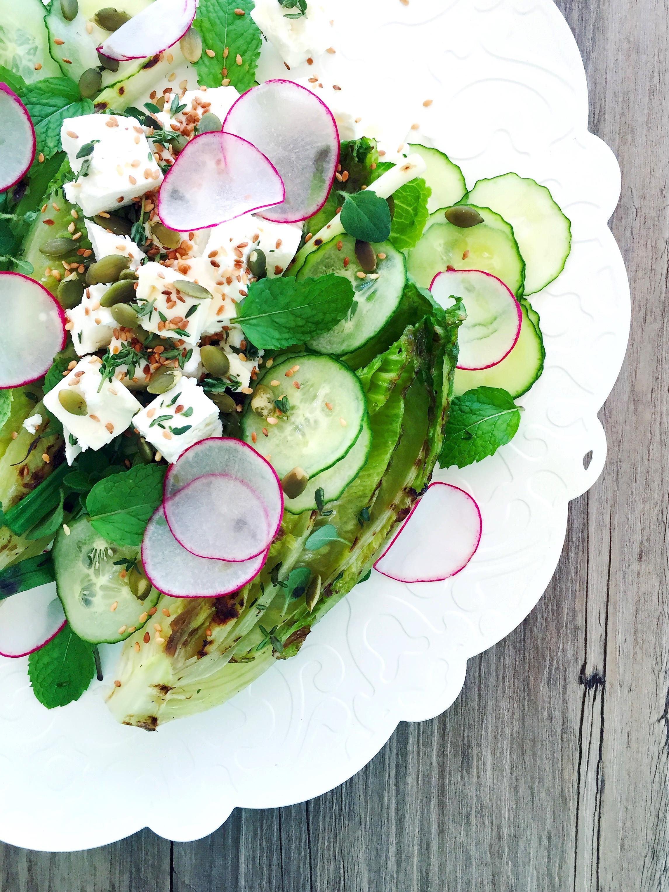 Grilled Garden Salad | RafaellaSargi.com