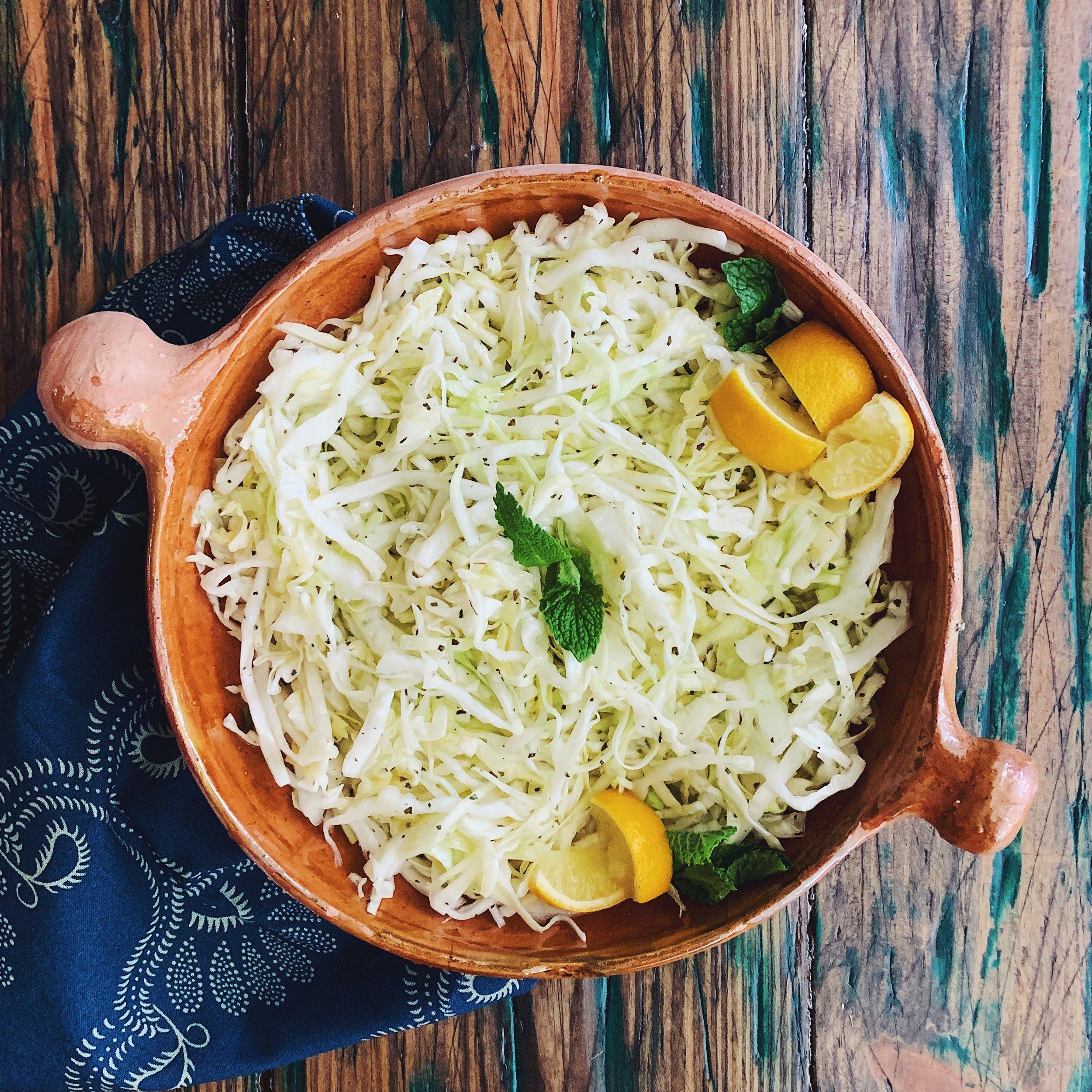 Lebanese Cabbage Salad | RafaellaSargi.com