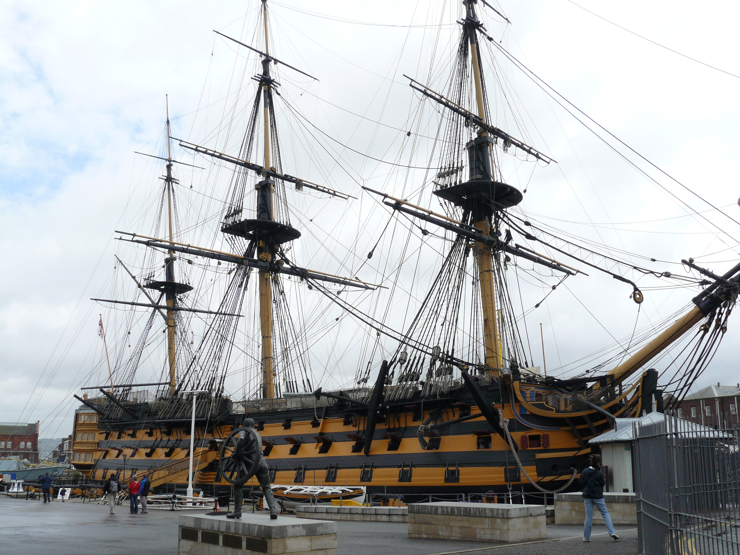 The HMS Victory. Lord Nelson's flagship during the early 1800's.