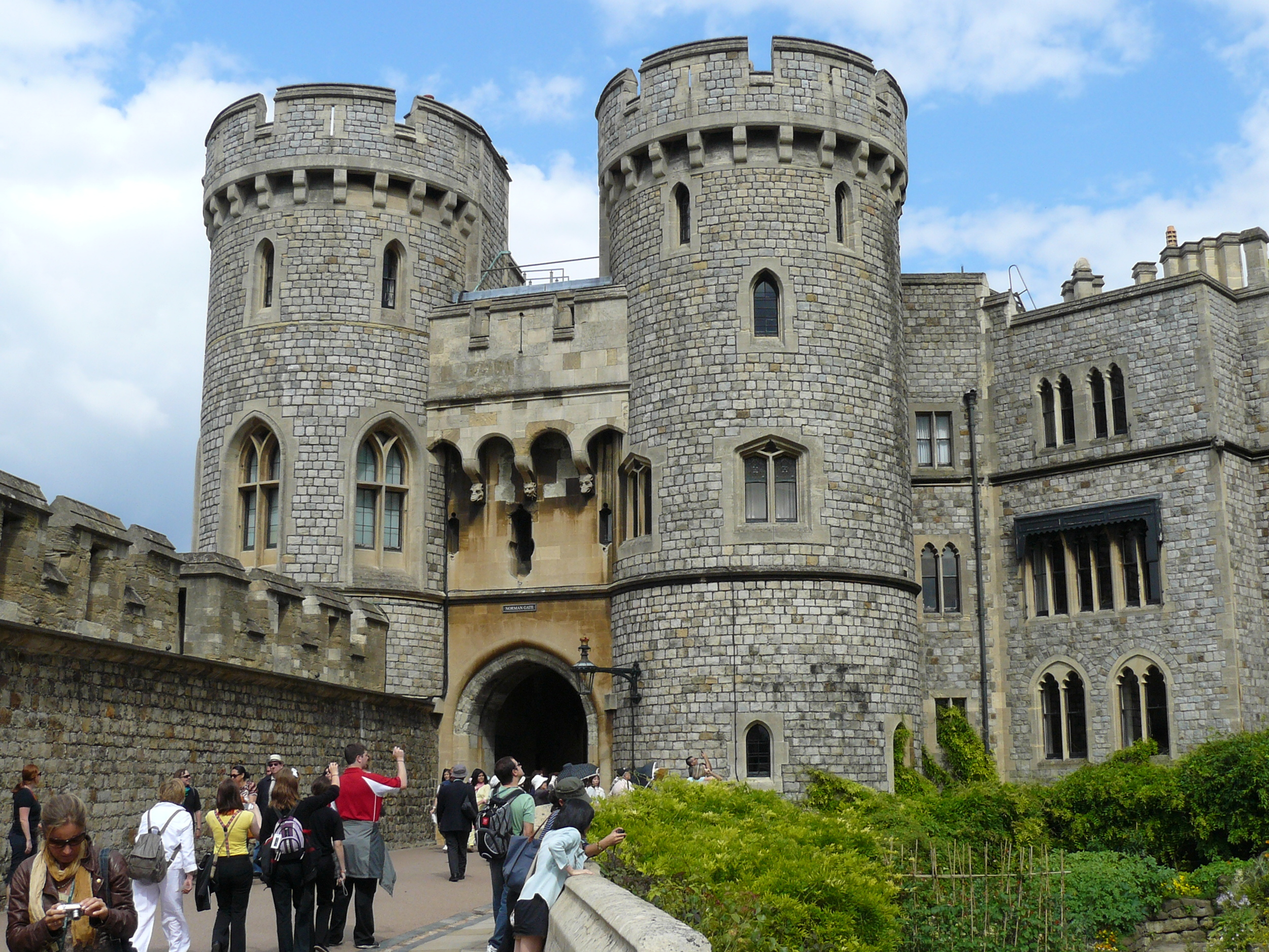 The gates into Windsor Castle.